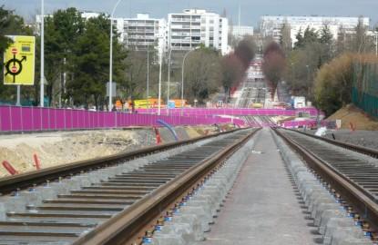 Le tramway de Dijon sur les rails