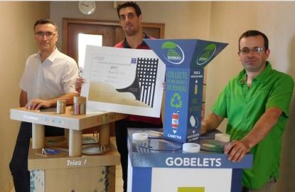 L'Alsacien Marx Reliures veut faire un carton près de la machine à café avec son mobilier de collecte de déchets