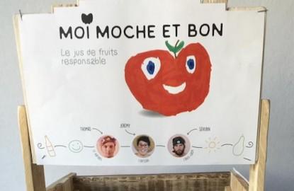 Moi moche et bon lance un jus de pomme antigaspi dans les supermarchés d'Ile-de-France et du Grand Est