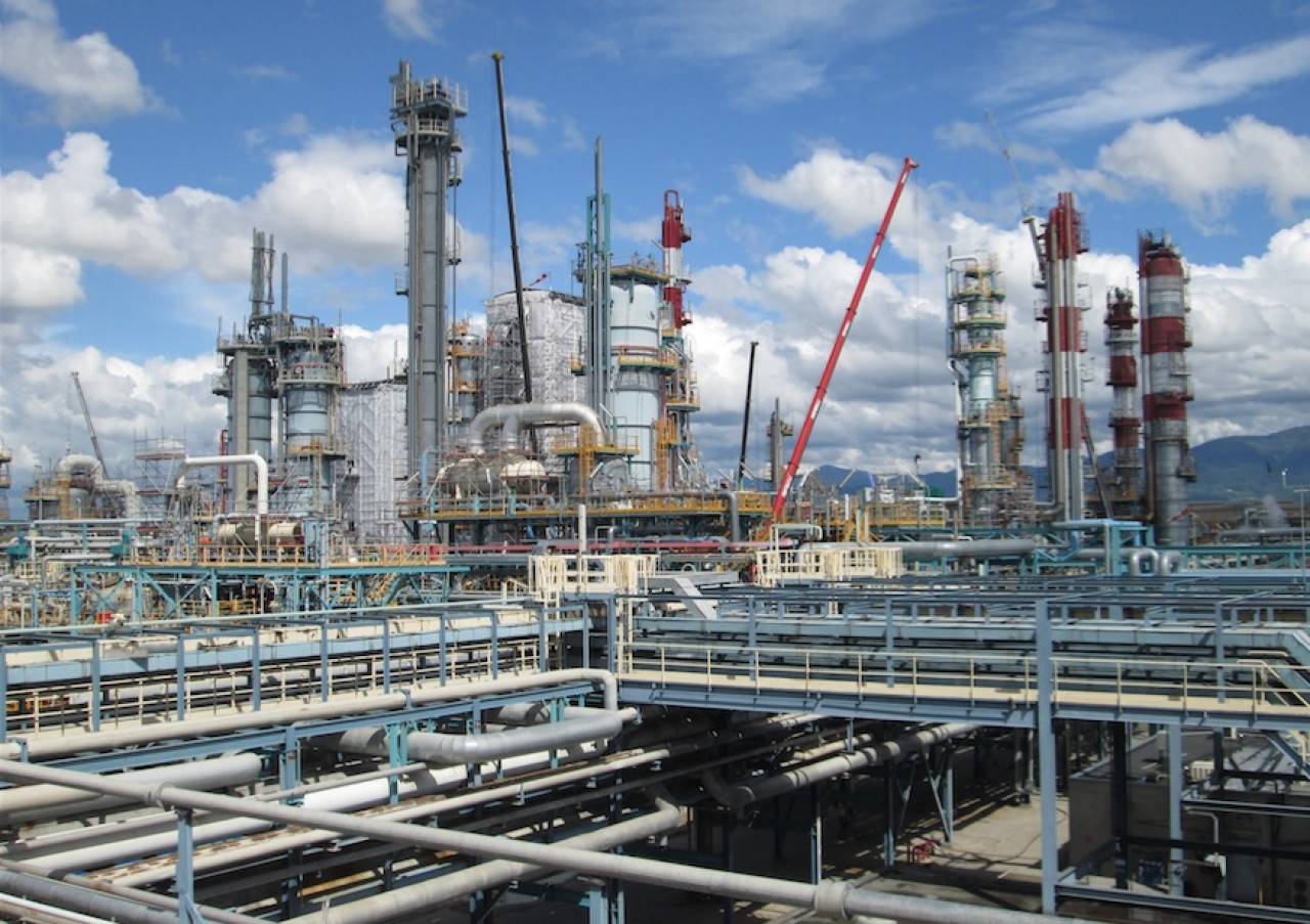 Le complexe chimique de Chalampé réunit Solvay, Butachimie, la coentreprise avec Invista et plusieurs fournisseurs de l'industriel. © Butachimie.