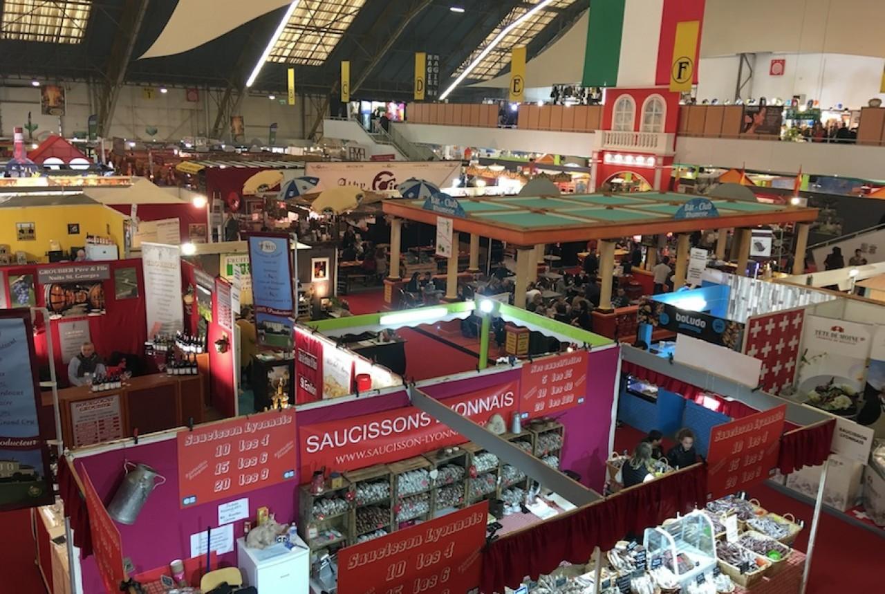 La Foire gastronomique est la plus grosse manifestation du parc des expositions et des congrès de Dijon. © Traces Écrites.