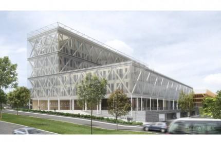 La Société Est Métropoles construit à Dijon le plus grand complexe en bois de France pour la Caisse d'Epargne Bourgogne-Franche-Comté