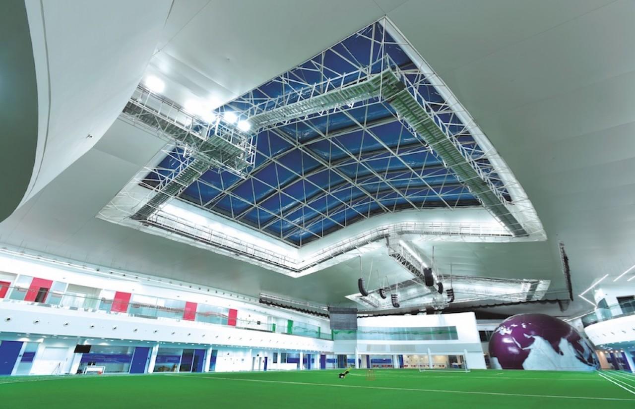 Avant le Grand Egyptian Muséum qui doit ouvrir en 2019 au Caire, Barrisol avait réalisé le complexe sportif Aspire Park Studium à Doha au Qatar. Architecte : CICO and Roger Taillibert. © 2009-2018 Barrisol Normalu S.A.S