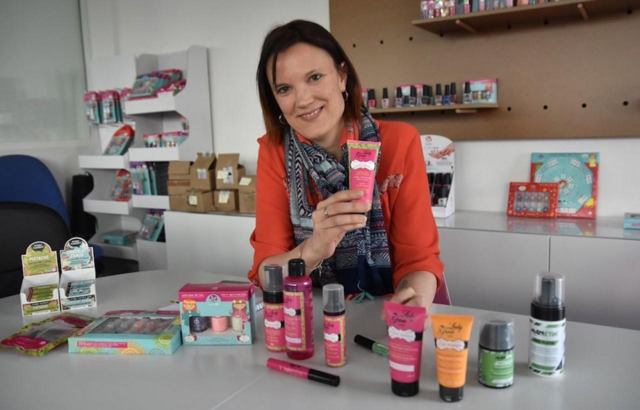 Après une gamme de cosmétiques naturels pour les jeunes filles, Virginie Vinet lance en juin 2019 une game pour les adolescents. ©Julie Giorgi.