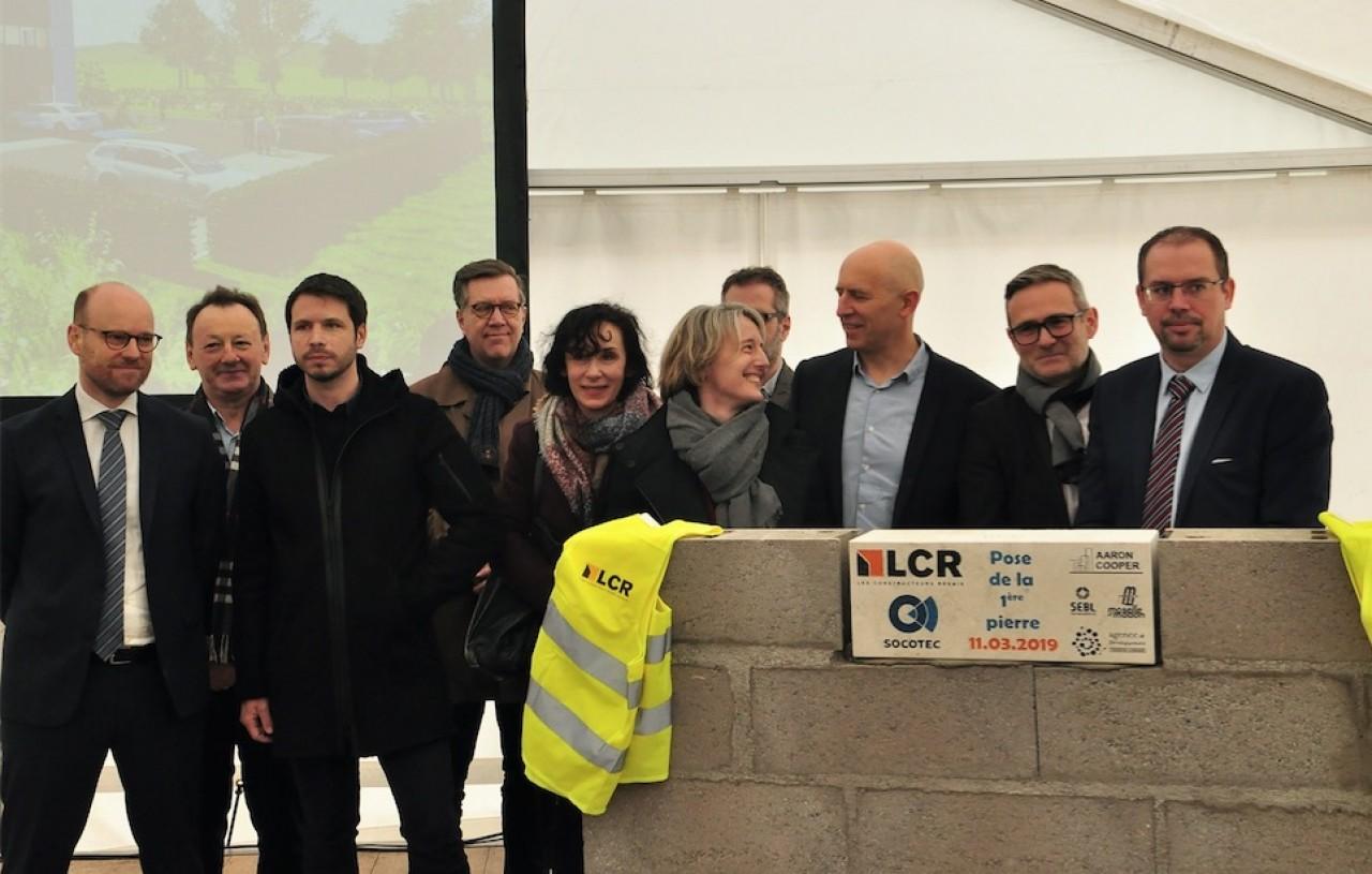 La pose de la première pierre de la nouvelle agence Socotec Nancy concrétise l'ouverture de la première tranche de Brabois Forestière à la commercialisation. ©Philippe Bohlinger