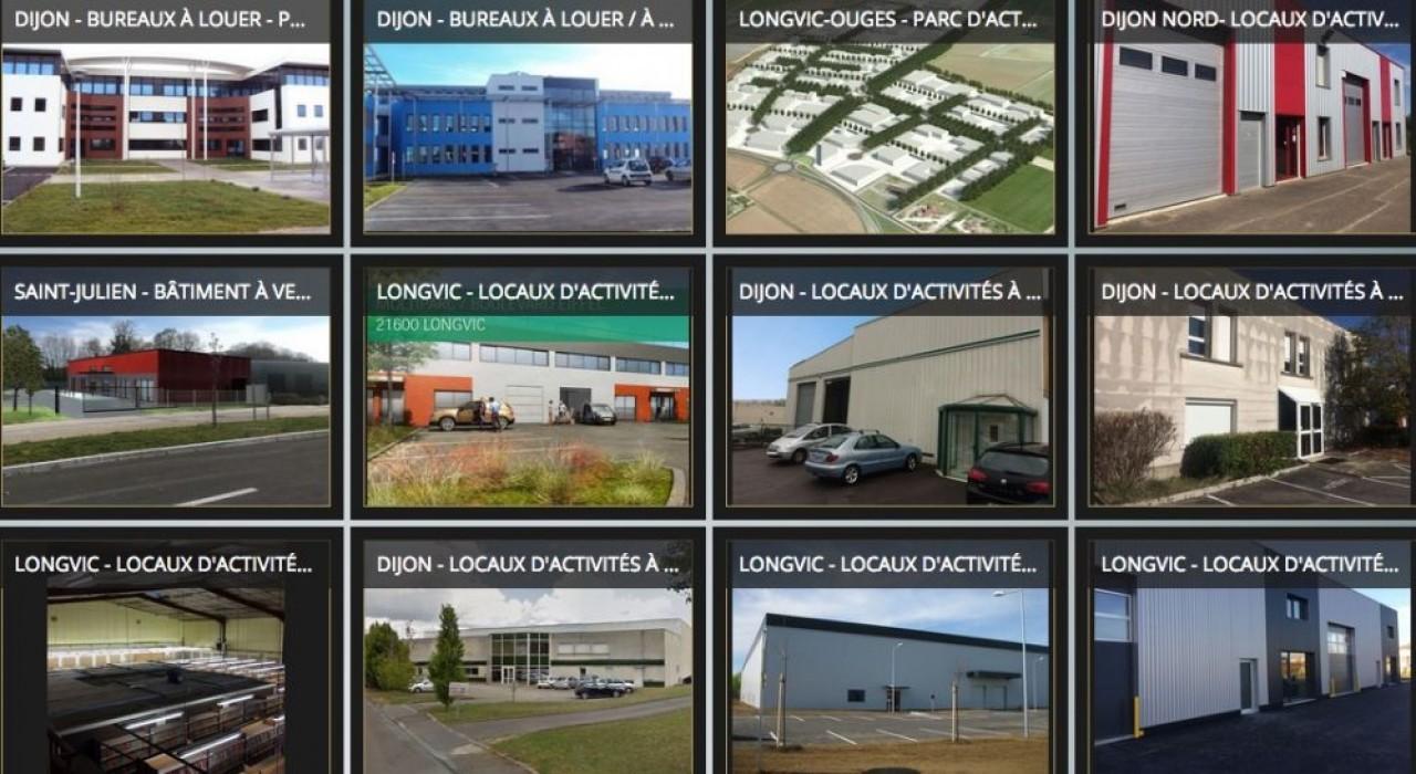 41.800 m² de bureaux et 59.500 m² de locaux industriels, essentiellement de seconde main, étaient en vente ou en location dans l'agglomération dijonnaise au 31 décembre 2018. © IMDEX/CCI 21.