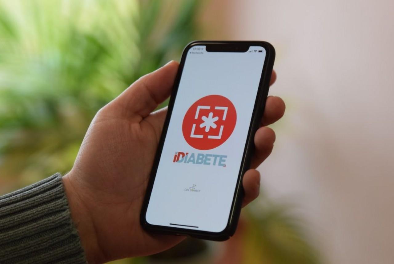 La page d'accueil de l'application IDiabète, ici téléchargée sur un smartphone. © Traces Ecrites.