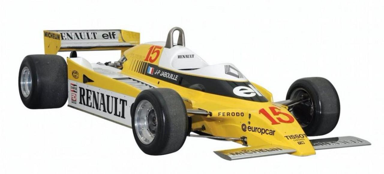 Parmi les véhicules de compétition présentés au salon Auto Moto Rétro de Dijon, la F1 RS 10 de Renault qui emporta, avec au volant Jean-Pierre Jabouille, le Grand Prix de France 1979 qui se déroulait à l'époque au circuit de Dijon-Prenois.
