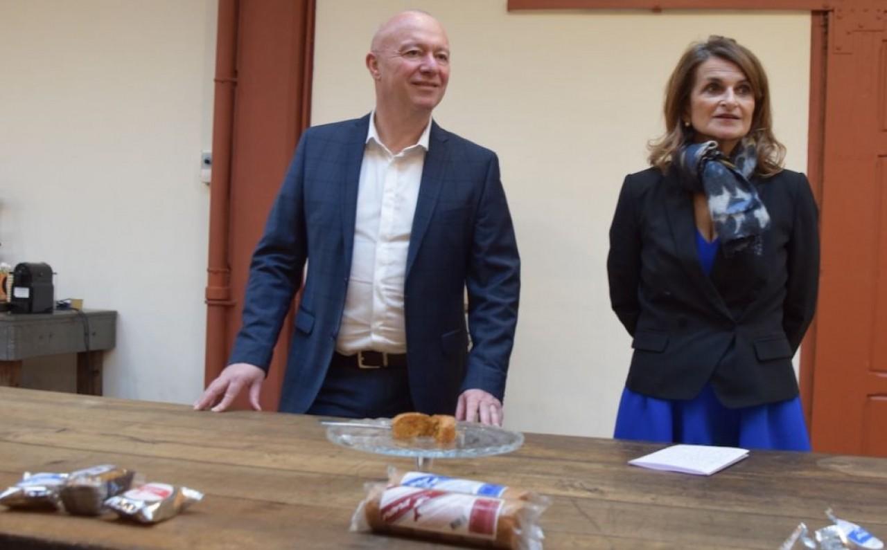 François-André Allaert, président de CEN Nutriment, et Catherine Petitjean, PDG de Mulot et Petijean, ont travaillé pendant près de trois ans sur une gamme de pains d'épices pouvant prétendre à une allégation de santé. © Traces Écrites.
