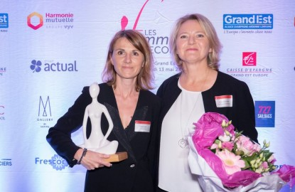 Amandine Aubert, dirigeante d'EcoGreenEnergy reçoit le trophée Chef d'entreprise des Femmes de l'Économie