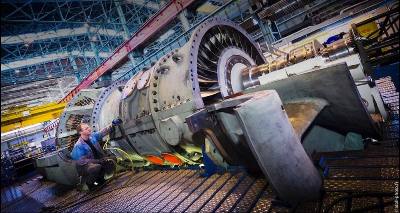 General Electric a repris en 2016 les activités de fabrication de turbines pour les centrales thermiques et électriques de son concurrent Alstom. © GE.