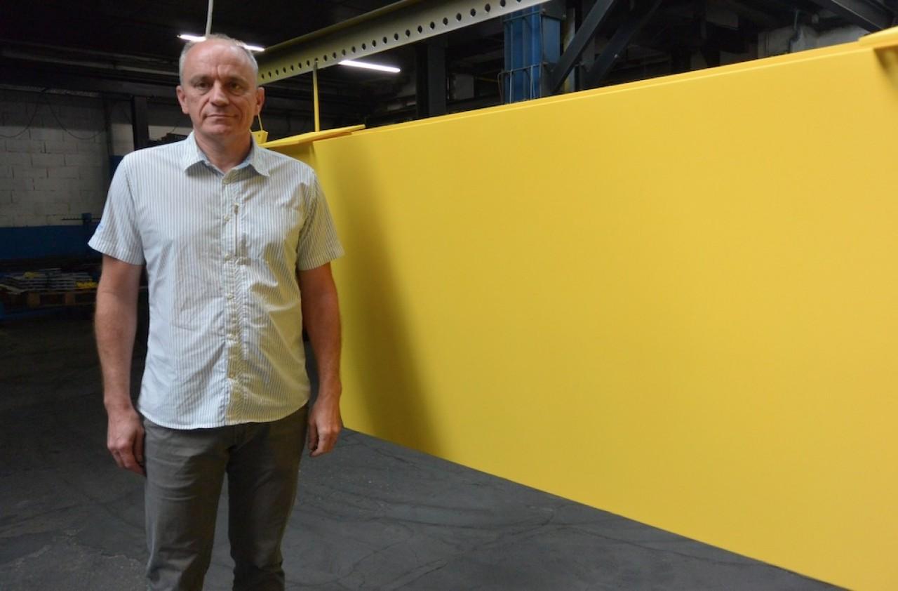 Gérard Oury, repreneur en 2017 de ETS 90 reprend aujourd'hui Sotarpi, près de Dole. ©Pierre-Yves ratti.