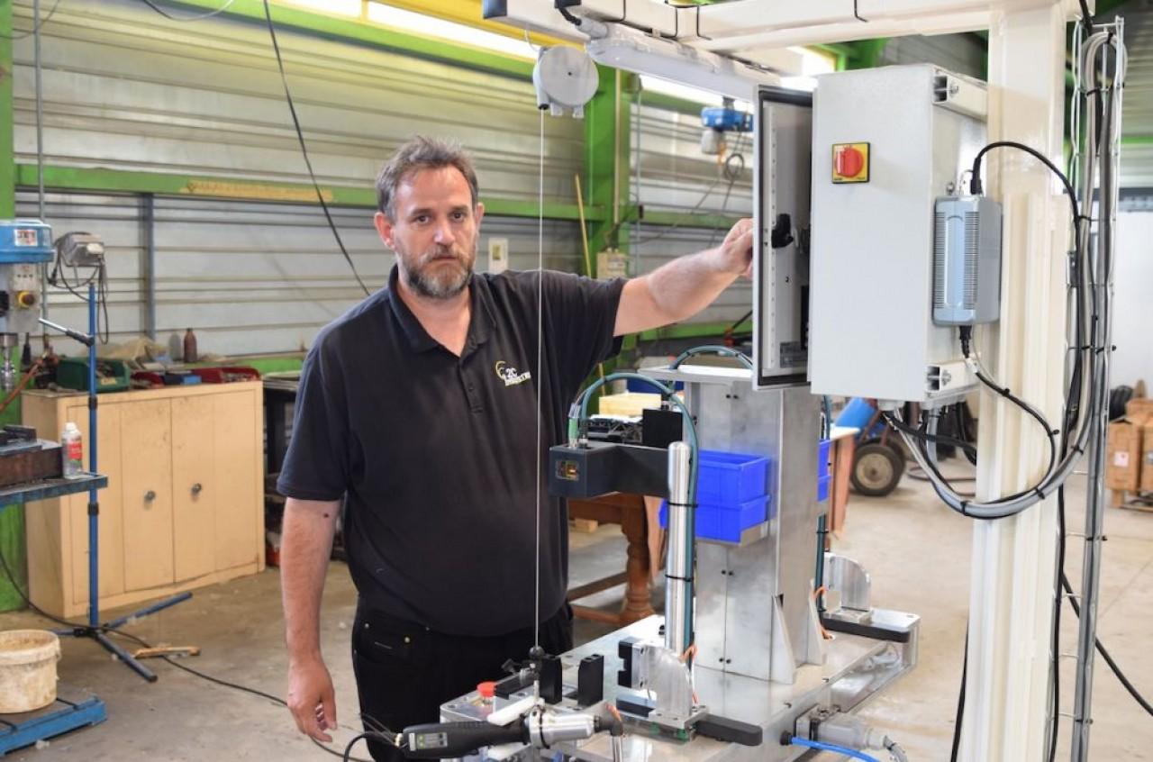Jérôme Codol, dirigeant de 2C Industrie et 2C Environnement. © Traces Ecrites.