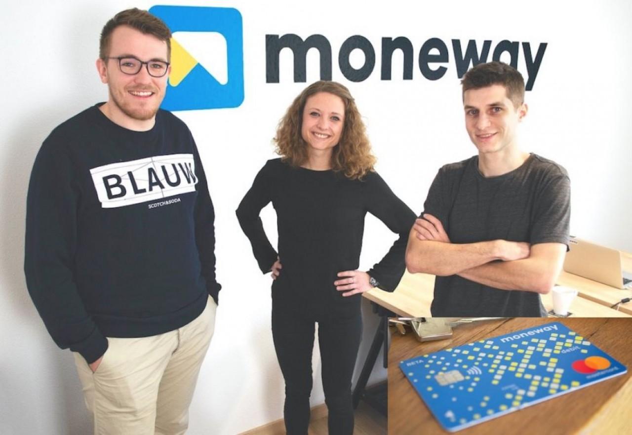 Le trio fondateur de Moneway (de gauche à droite) : Benjamin Chatelain, Noémie Nicod et Romain Vermot. ©Moneway