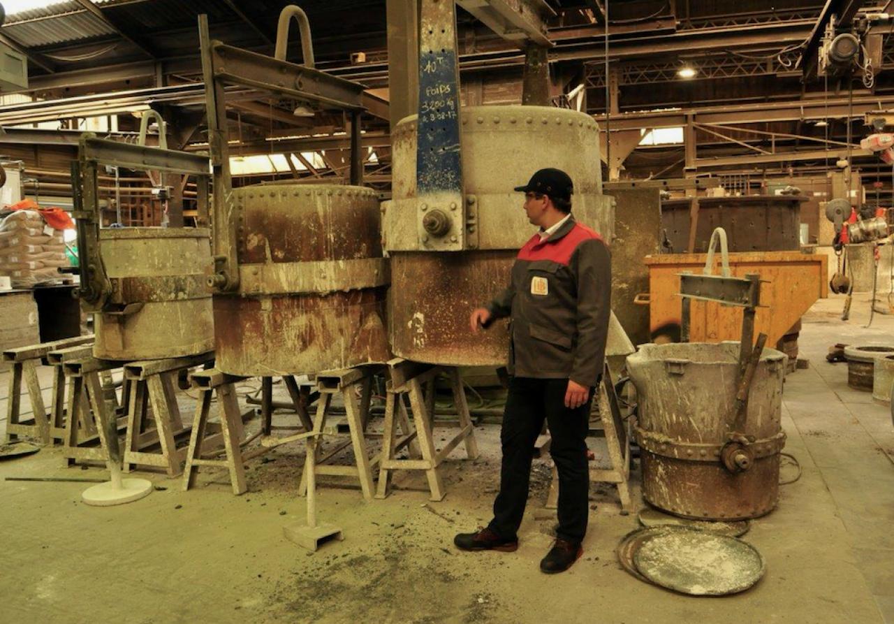 LBI (Les Bronzes d'Industrie) élabore elle-même les « recettes » de ses alliages, un avantage compétitif. © Philippe Bohlinger