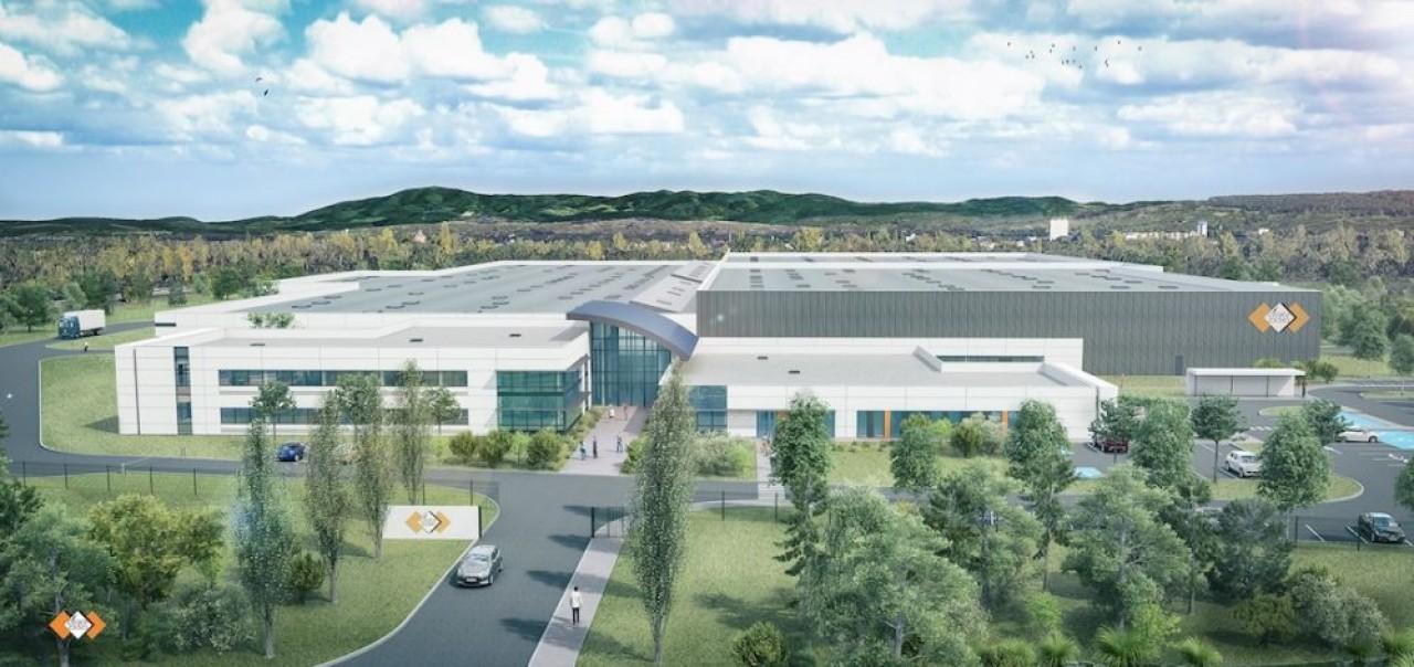 SES-Sterling prépare un déménagement hors normes  sur le Technoparc, une nouvelle zone d'activités de l'agglomération de Saint-Louis, à la lisière de l'Allemagne et de la Suisse. © CDA, architectes