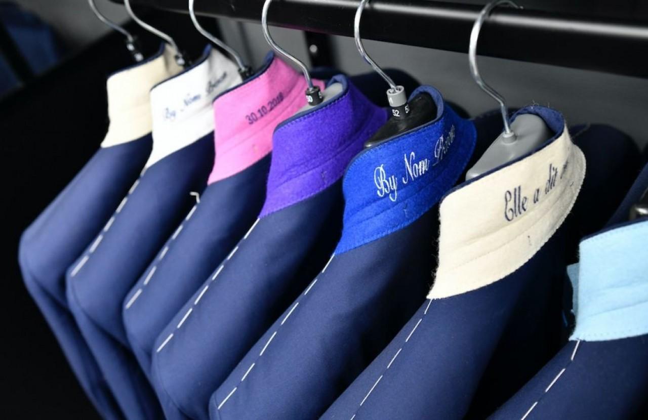 INTD, conceptrice de la marque de vêtements masculins Hafnium, a récemment ouvert un showroom de vente directe au rez-de-chaussée de son atelier dans la zone d'activité La Fayette, à Besançon. © Laurent Cheviet
