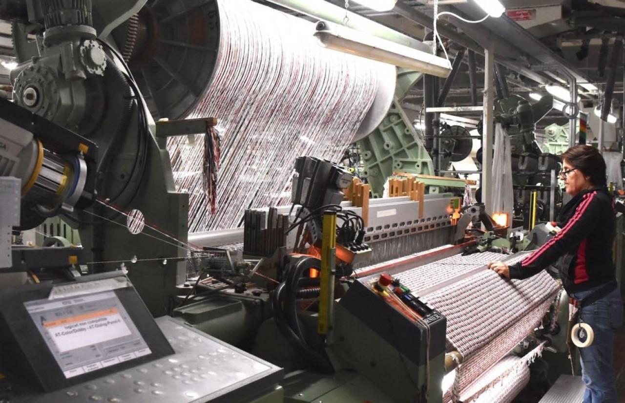 Emanuel Lang, entreprise du groupe Valcorex-Matières Françaises, est une filature de matières naturelles,  coton, tencel (fibre de cellulose), lin, chanvre et ortie. ©Julie Giorgi