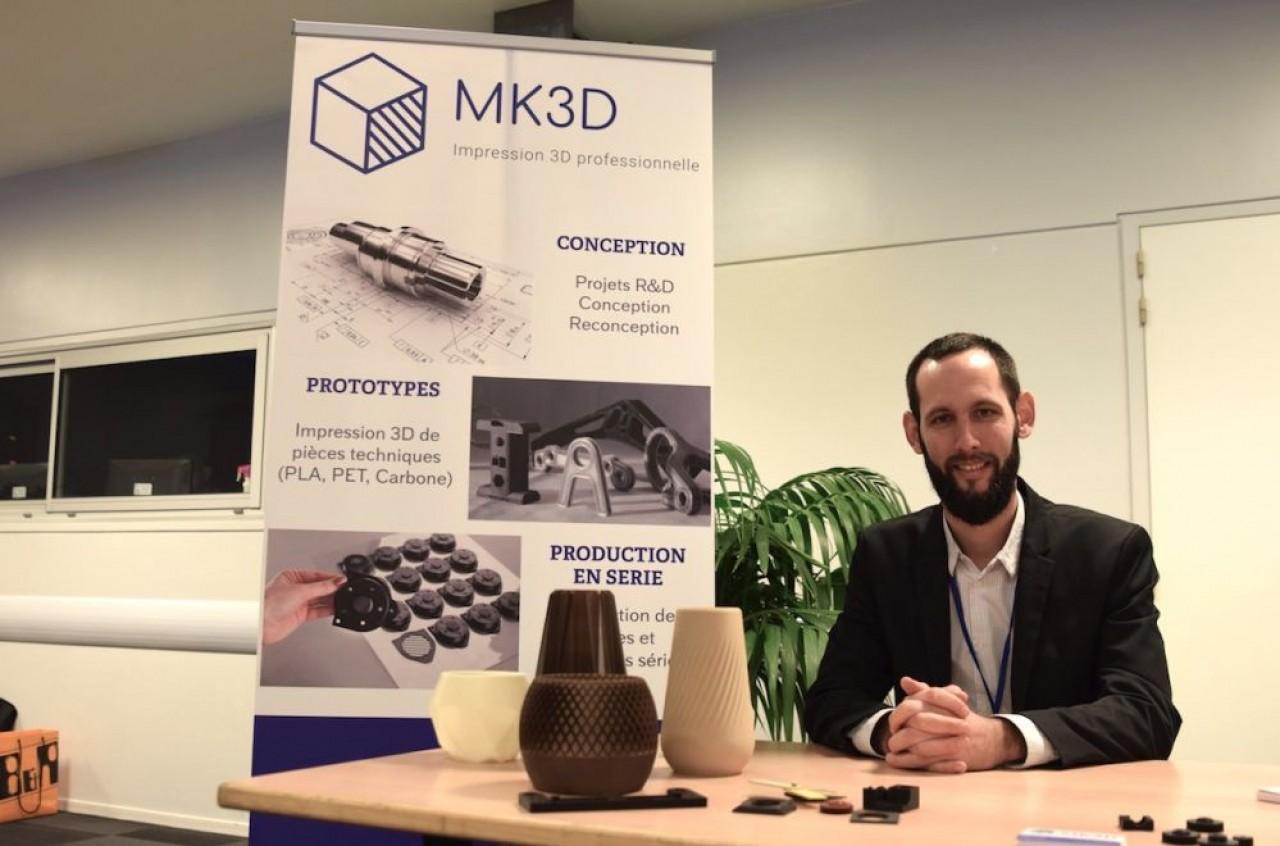 Vincent Lapierre, co-fondateur de MK3D, spécialiste en fabrication additive pour pièces en plastique et composite. © Traces Ecrites.