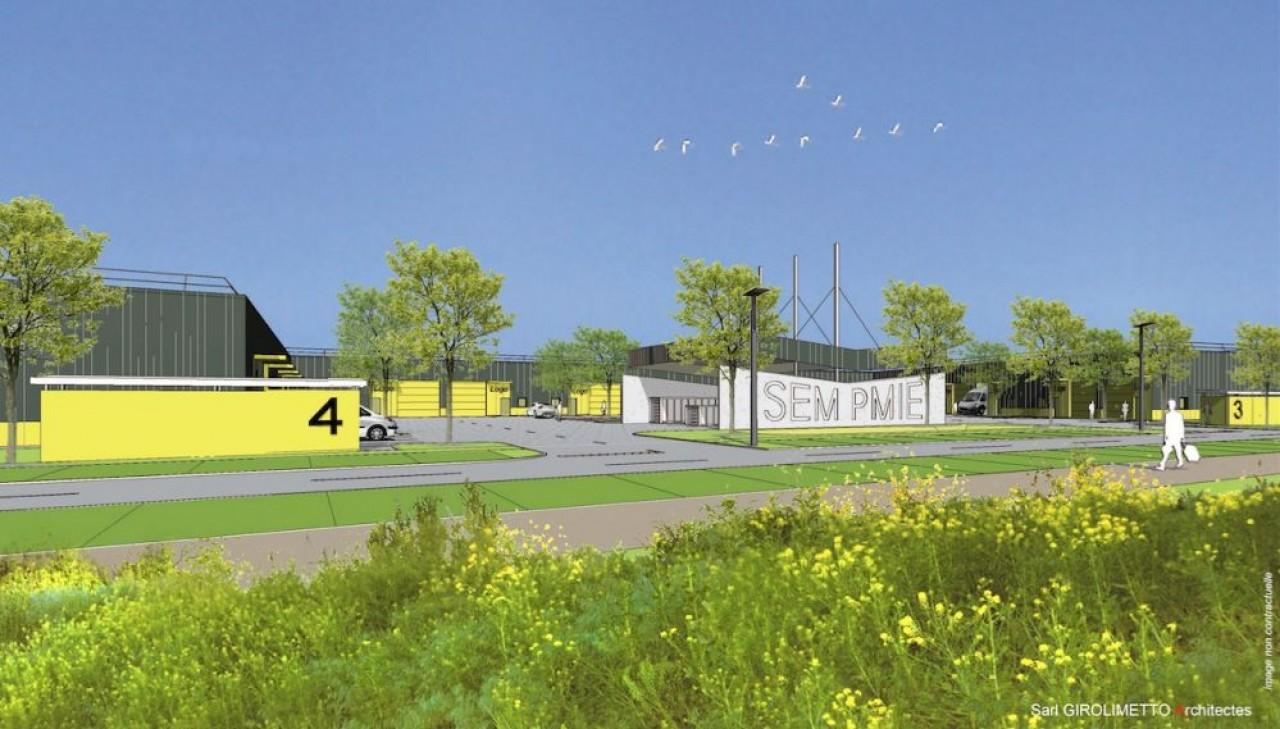 CRRI 2000 construit le programme de cellules artisanales Middle Tech, sur la zone Technoland II à Allenjoie (Doubs), pour le compte de la société d'économie mixte Pays de Montbéliard Immobilier d'Entreprises, un contrat de 3 millions d'€. ©Alain Girolime