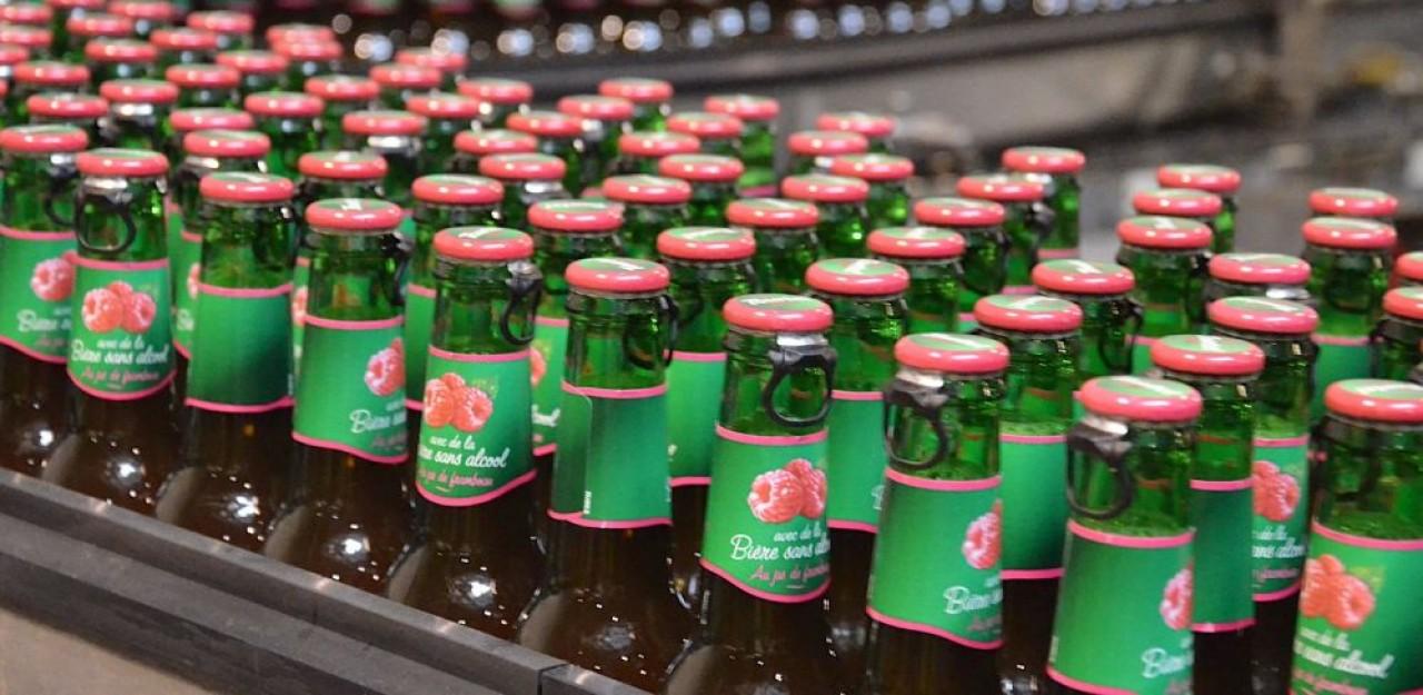 Le site Kronenbourg d'Obernai fabrique notament des bières sans alcool, segment sur lequel la marque se place comme le leader avec 70% des parts de marché. © Kronenbourg