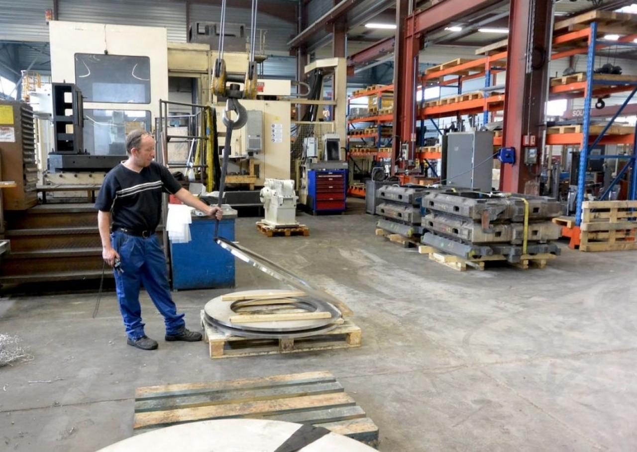 L'entreprise de mécanique Mecadep, près de Belfort, doit faire face à une pénurie de copétences. ©Pierre-Yves Ratti.