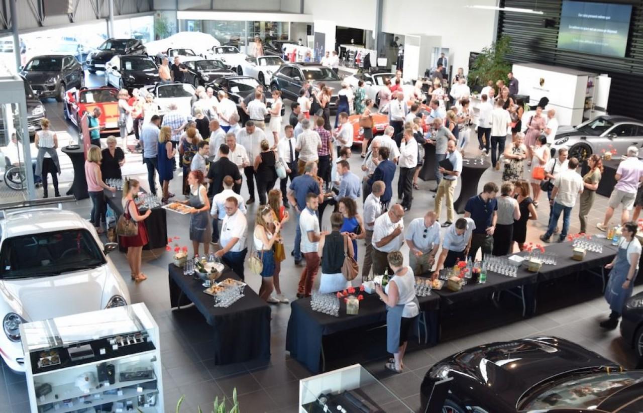 Le Club Affaires nord Franche-Comté – Sud Alsace avait réuni 180 personnes au Centre Porsche de Mulhouse. © Traces Écrites