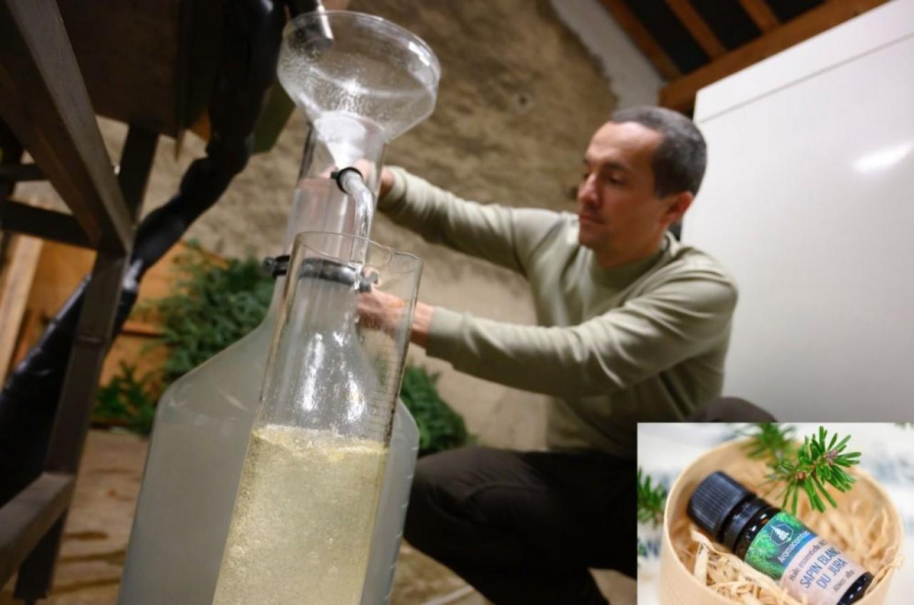 La distillerie artisanale d'huiles essentielles de sapin Aromacomtois privilégie, au moins pour l'instant, une distribution en Bourgogne-Franche-Comté. ©Laurent Cheviet