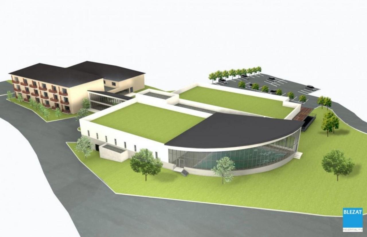 Le centre thermal de Santenay avec accolée la résidence de 50 studios.