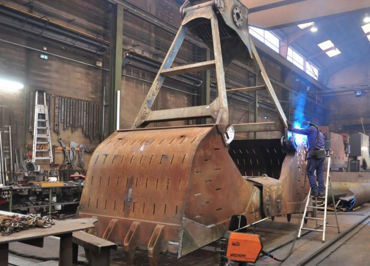Intercontinental Equipement Verdun (IEV) fabrique des bennes et godets et assure également leur  réparation. © Philippe Bohlinger
