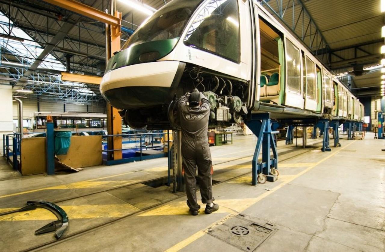 Spécialisé dans l'habillage des trains, RM System développe aujourd'hui des activités de maintenance et réparation du matériel roulant en exploitation. © RM System