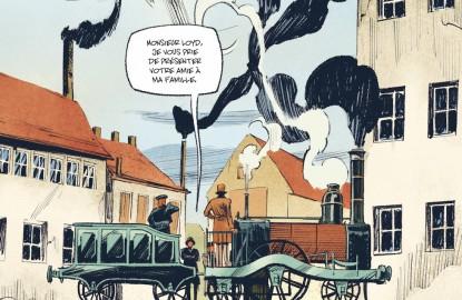 L'histoire industrielle et ferroviaire de Mulhouse racontée en BD avec pour héros Nicolas Koechlin