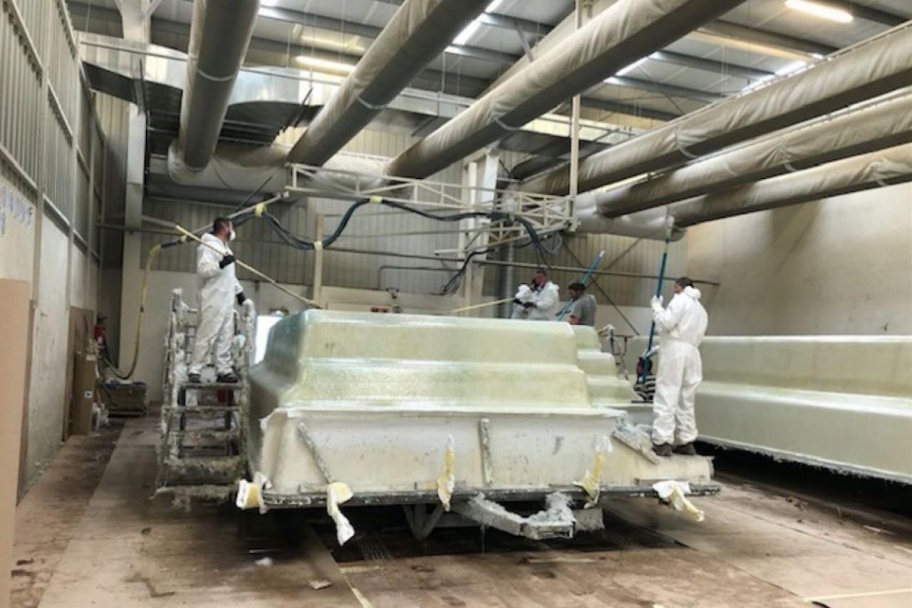 Piscines Provence Polyester a deux unités de fabrication, à Pouilly-en-Auxois (Côte-d'Or) et à Weyer (Bas-Rhin). © PPP