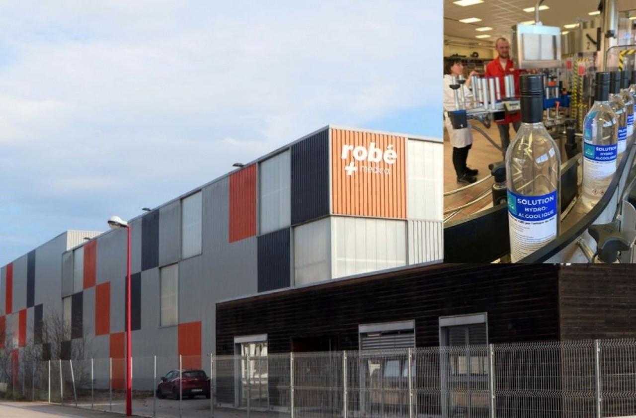 Heureuse coïncidence, Robé Médical a réceptionné le 3 mars un entrepôt flambant neuf de 2000 m² qui lui permet de réceptionner un afflux de commandes. En vignette, les solutions hydro-alcooliques de la Distillerie Peureux à Fougerolles qu'il distribue.