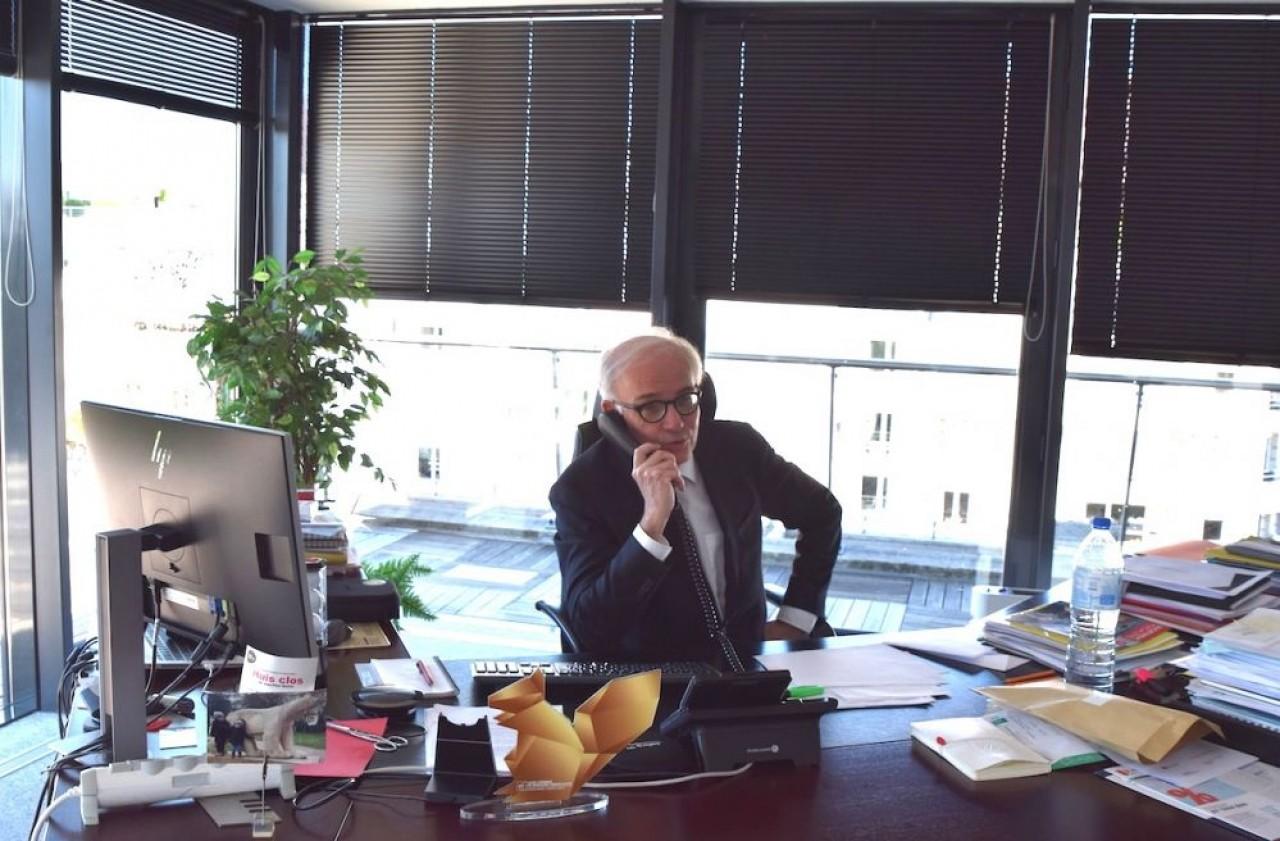 Jean-Pierre Deramecourt, président du directoire de la Caisse d'Epargne de Bourgogne - Franche-Comté. © Traces Ecrites