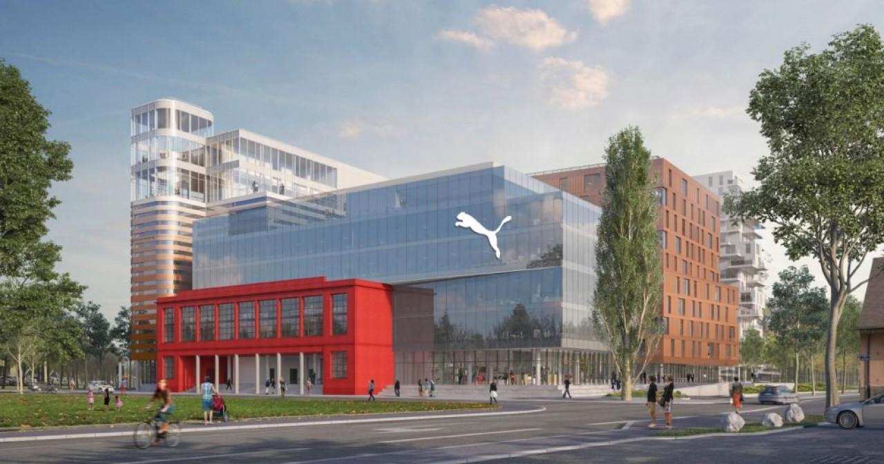 Puma France devrait s'installer à la fin de cette année sur 4.700 m2 dans le quartier d'affaires Archipel-Wacken à Strasbourg. ©  DRLW Architectes / Atelier d'architecture King Kong
