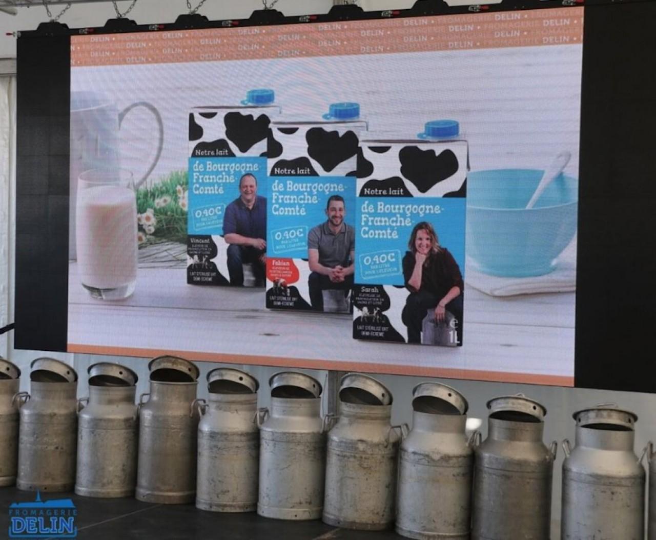 Pendant le confinement, la Fromagerie Delin avait augmenté les volumes de lait UHT pour compenser la perte de ses ventes de ses fromages dans la restauration. ©Delin