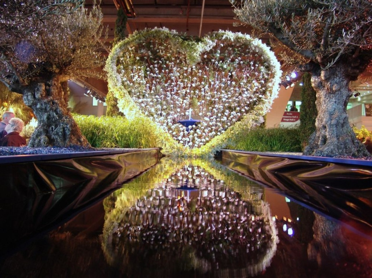 L'une des créations du salon floral Florissimo, organisé tous les cinq ans et jugé parmi les plus créatifs au monde. © Dijon Congrexpo