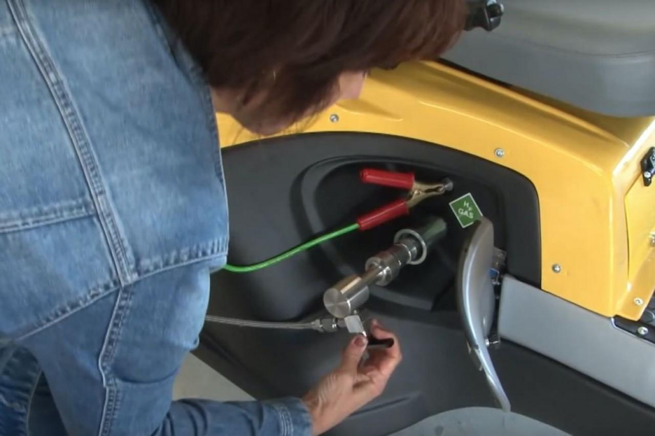 Eifhytec a mis au point un compresseur thermique pour la recharge des véhicules à hydrogène dans les stations-services. Photo non contractuelle.