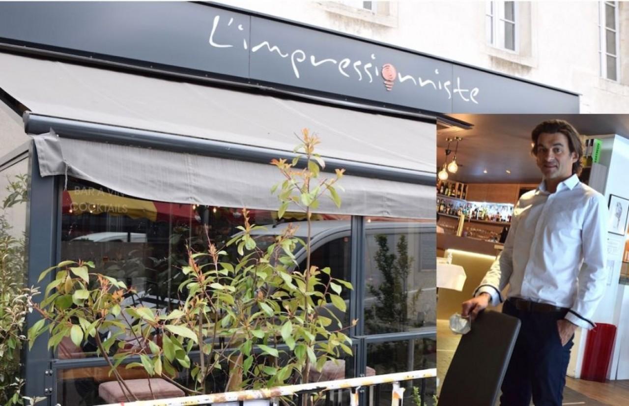 Pris en étau entre l'impact de l'image de chef étoilé et la crise sanitaire, Jérôme Brochot réoriente son offre commerciale et accueille une associée pour son restaurant L'Impressionniste à Dijon. © Traces Ecrites