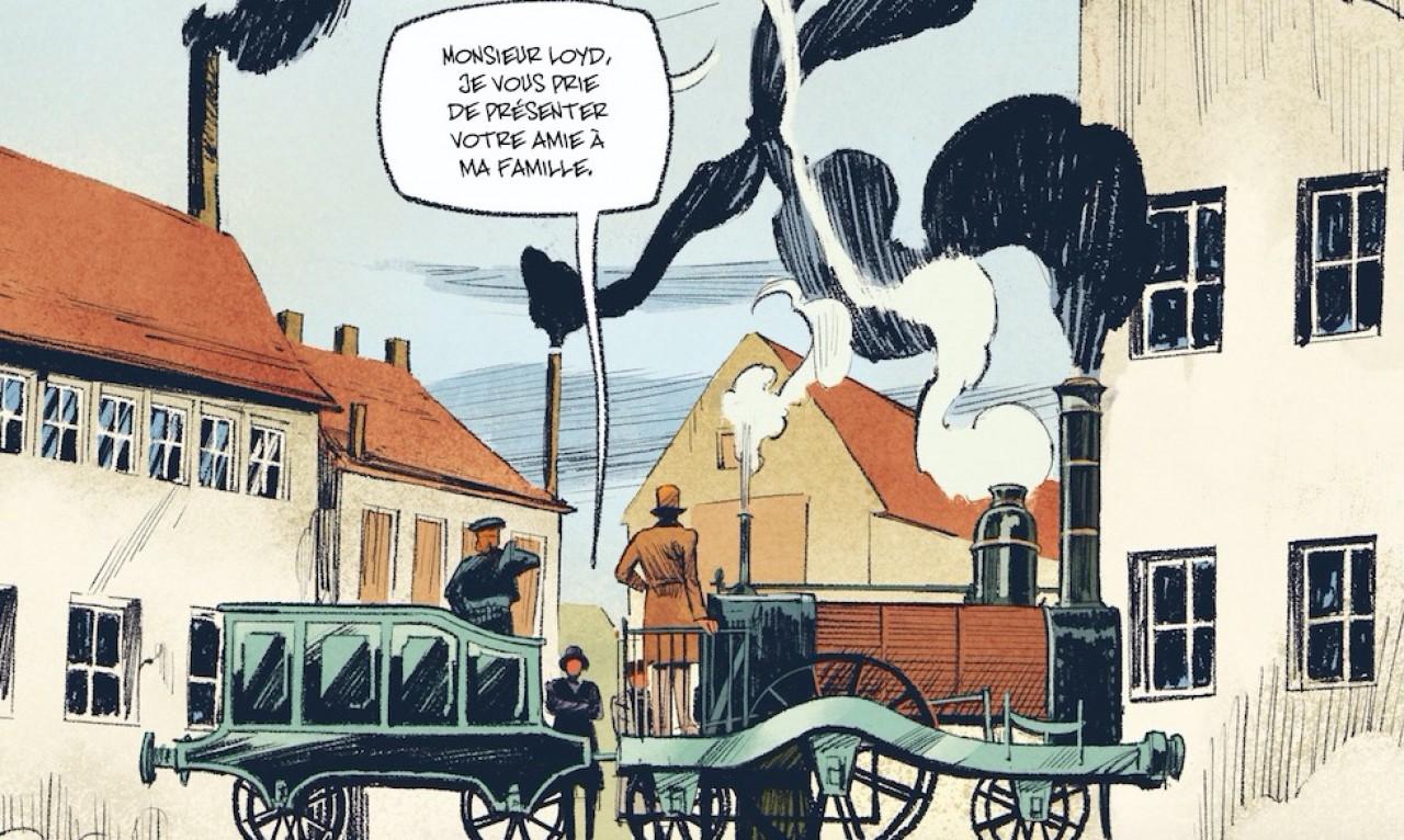 Une locommotive Sharp &Roberts qui servit de modèle pour les locomotives de la ligne Mulhouse-Thann, dont la célèbre Napoléon. © Stéphane Piatzszek/Florent Bossard - Bamboo Edition/Collection Grand Angle