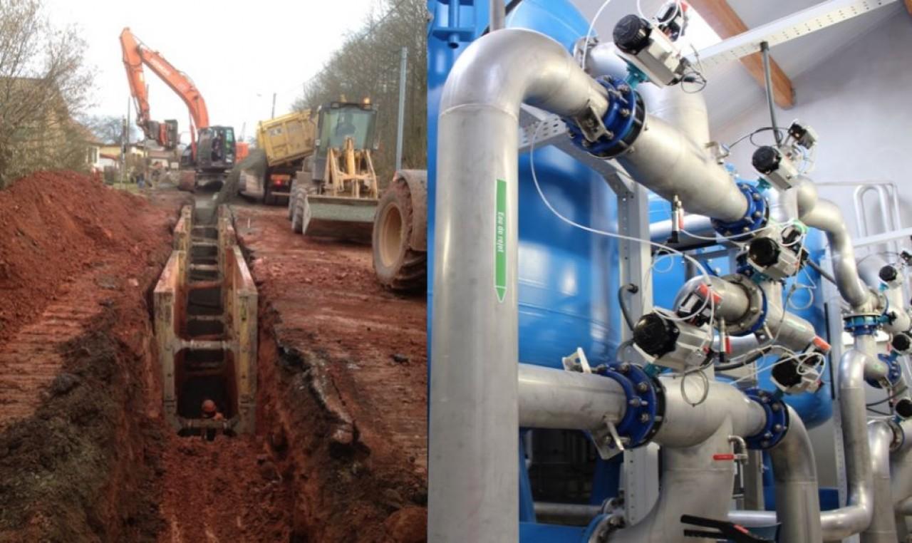 Deux domaines d'investissement importants pour les travaux publics : le très haut débit et l'eau potable. © Traces Ecrites
