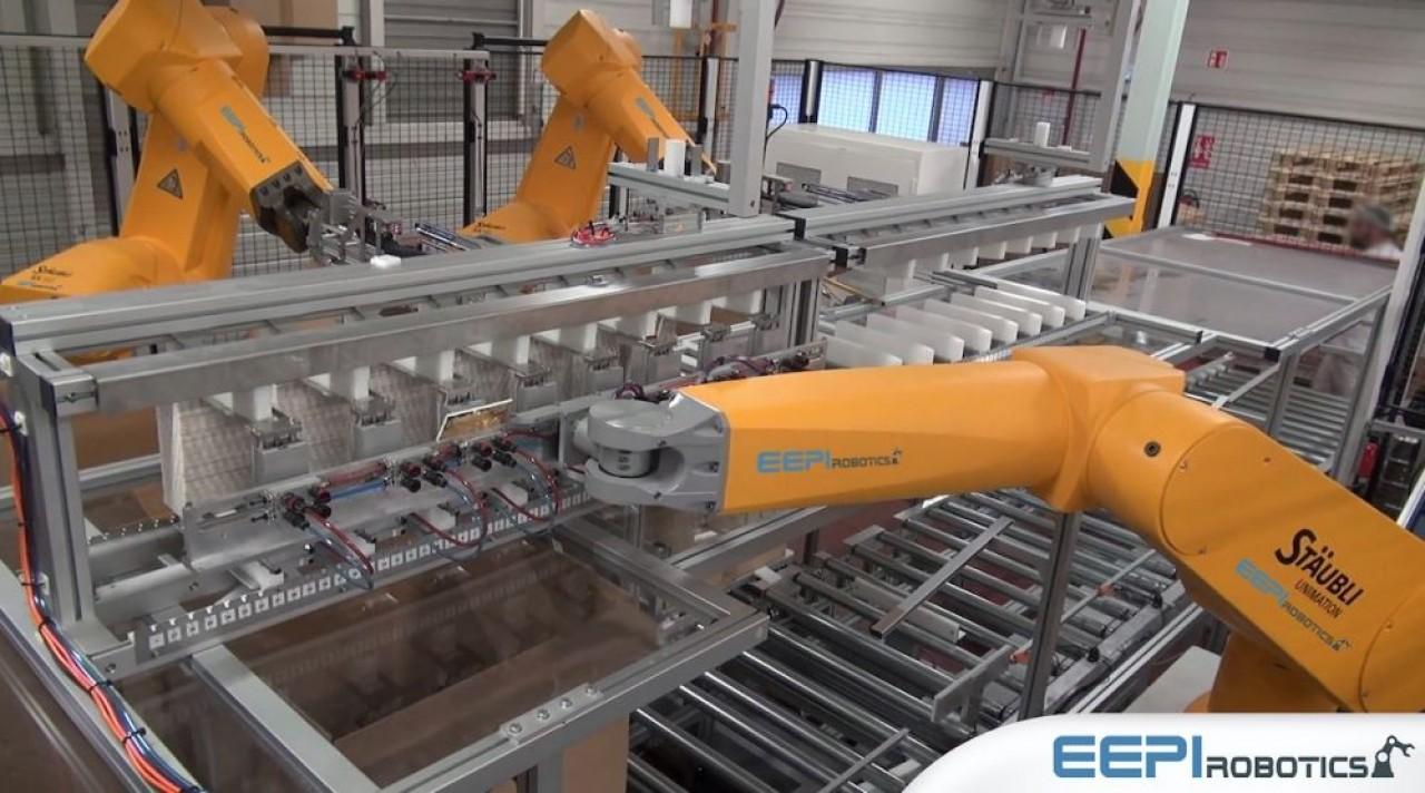 L'esquisse d'un petit groupe de robotique à partir d'Elyotec et de EEPI Robotique s'inscrit sur le marché de l'industrie 4.0.