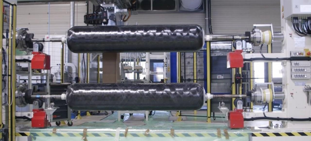 Faurecia se positionne sur le marché de la motorisation à hydrogène. Premier gros contrat de l'équipementier automobile, la fourniture de réservoirs, sur quatre ans, de 1.600 poids lourds Hyundai. © Faurecia