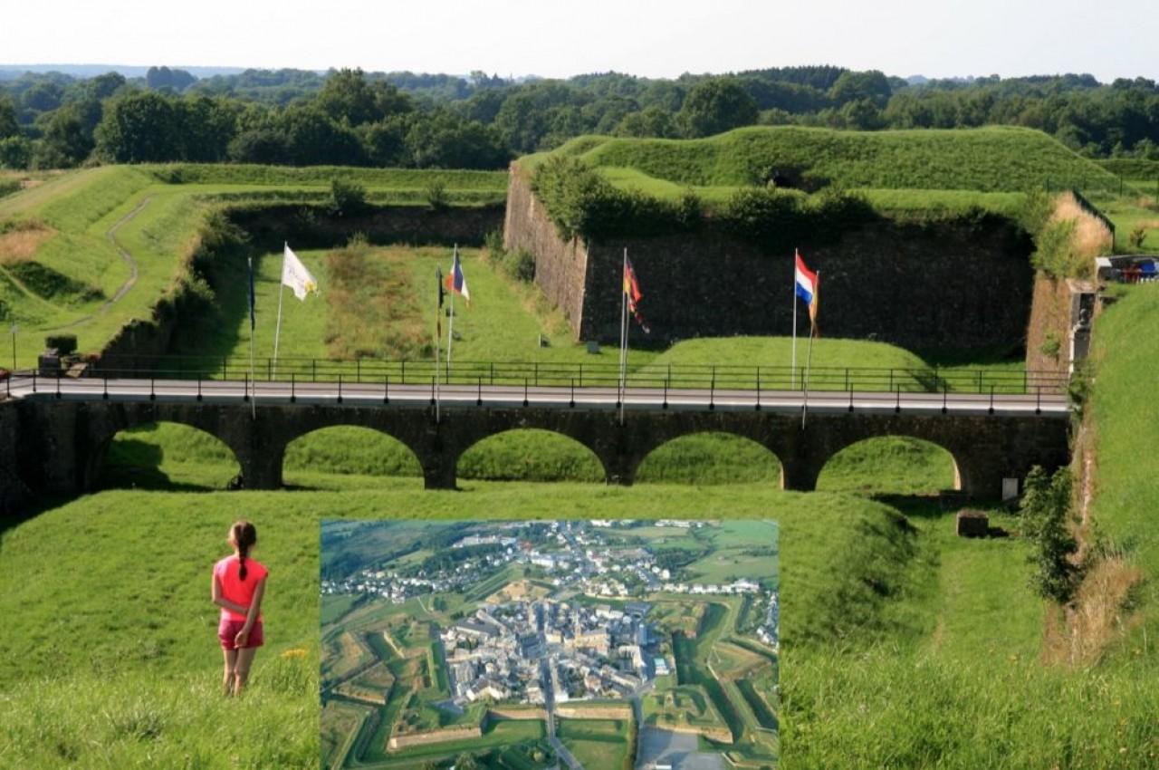 Les trois-quarts des touristes de l'été 2020 étaient originaires du Grand Est. En photo, la petite ville de Rocroi, dans les Ardennes, et son remarquable urbanisme décagonal. © ARTGE