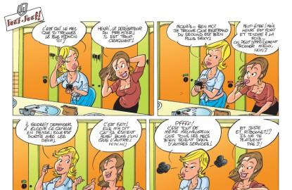 Les Fonctionnaires, épisode du tome 6 :  cancanage au sommet dans des toilettes mixtes