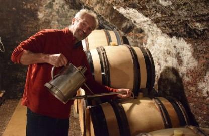 La cave aux trésors de Franck Follin-Arbelet, vigneron à Aloxe-Corton en Côte-d'Or