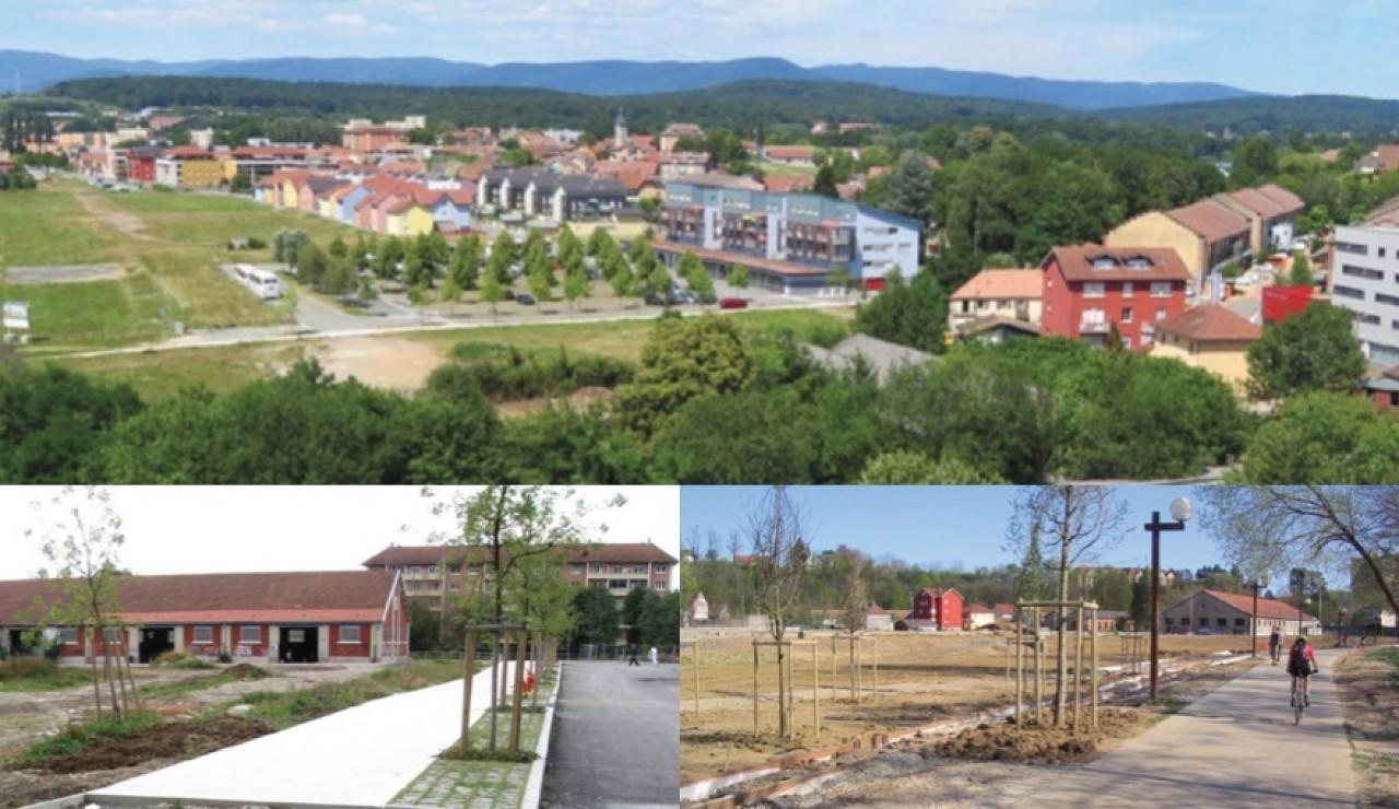 L'immeuble démonstrateur de Territoire Habitat prendra place dans Le Parc à Ballons, ancien site militaire reconverti en quartier résidentiel depuis le début des années 2000. © AUTB