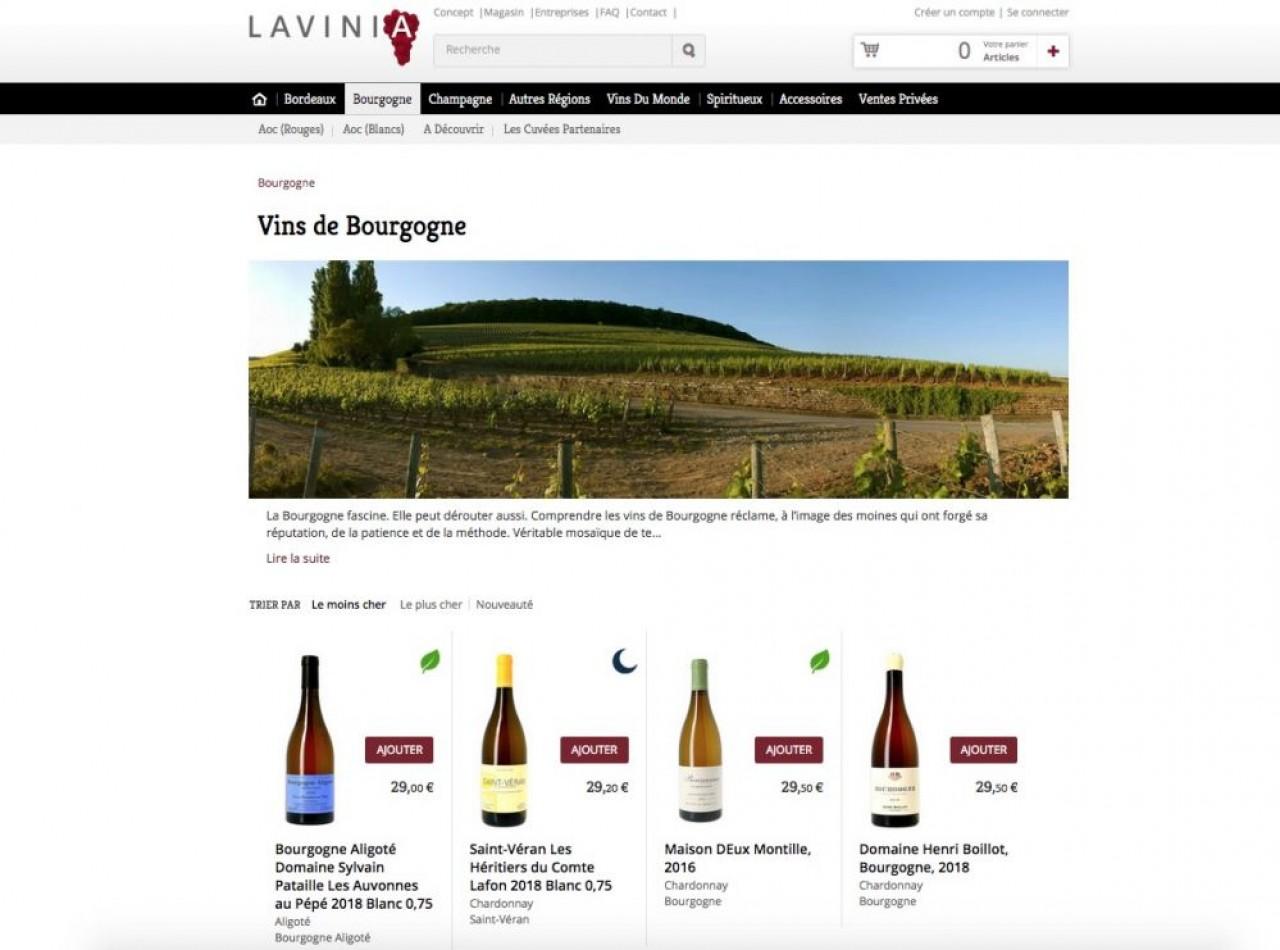 Le site de vente de vin en ligne de Lavinia, cité régulièrement comme le plus fiable et performant de sa catégorie.