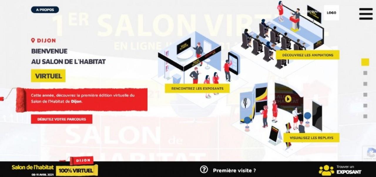 Aperçu du salon de l'habitat virtuel que DijonCongrexpo organise du 8 au 11 avril 2021.
